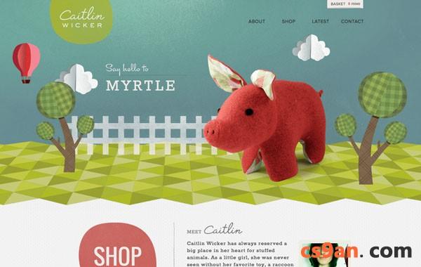 网页设计 色彩对比 首页设计 图文混排